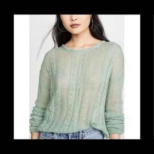 Free people fresh mint sweater size L